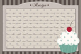 Retro cupcake recipe card