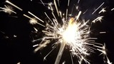 beautiful sparkler on black background in slowmotion