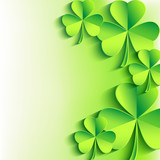 Abstract St. Patrick's day card with leaf clover