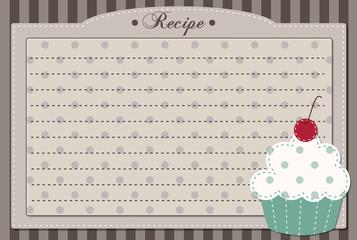 Retro cupcake recipe card