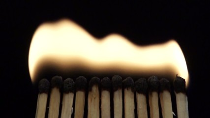 blow out the fire matches in slowmotion