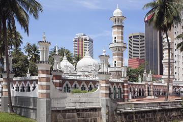 Jamek Mosque in Kuala Lumpur Closeup