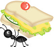 Ant Carrying Cheese Sandwich - 61758617