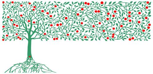 apple trees decoration