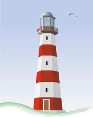 Leuchtturm mit Landschaft