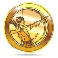 Bow and Arrow Coin