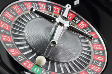 Roulette con la pallina sullo zero