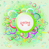 abstract background spring with color circles