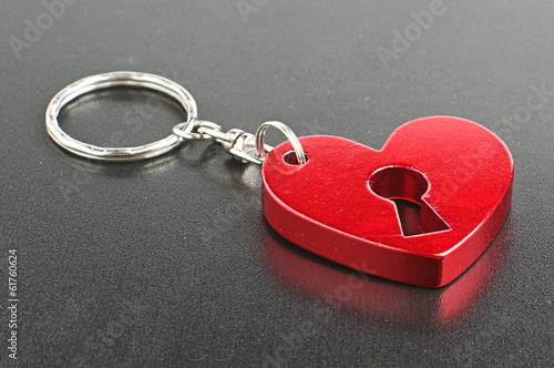 Valentine day present red heart shape fob
