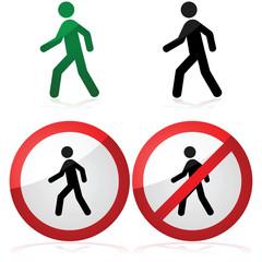 Walking and no walking