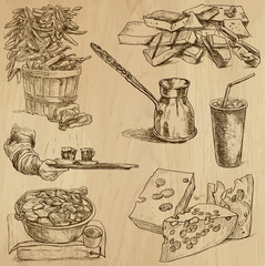 Food and Drinks_7 -  Hand drawn illustrations into vector