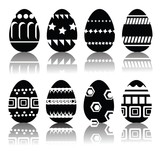 silhouettes of easter eggs