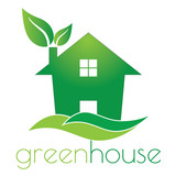 Green house logo
