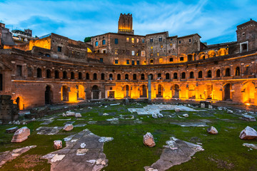 Trajan's Market, in the night