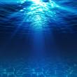 Leinwandbild Motiv underwater view with sandy seabed