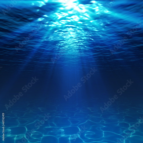underwater view with sandy seabed - 61762419