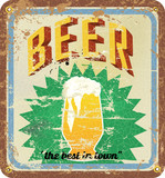 retro beer illustration, vector eps 10