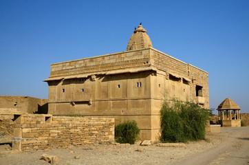 Hindu temple in abandoned village Kuldhara,Rajasthan,Thar desert