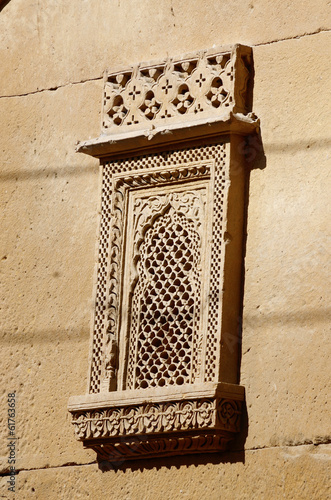 Traditional ornate window of old haveli,Jaisalmer,India