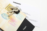 travel documents and passport - 61763846