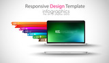 Modern devices mockups for your business projects. poster