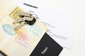 travel documents and passport
