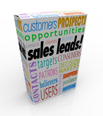 Sales Leads Box Package New Customers Prospects Competitive Adva