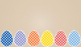 Stitched Easter eggs with polka dots