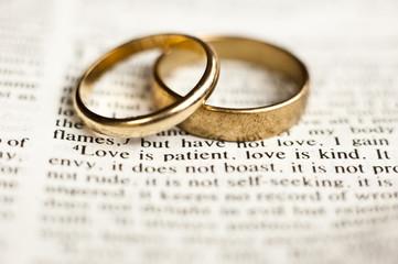 Wedding rings on love