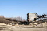 Obsolete facility for gravel sorting in sunny day