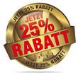 Jetzt 25% Rabatt gold