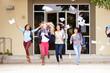 High School Pupils Celebrating End Of Term - 61766236