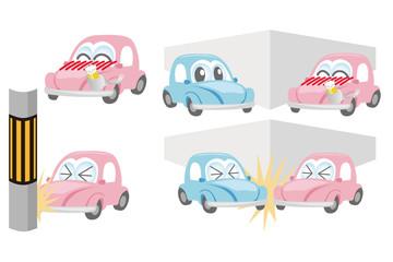 飲酒運転の事故のイラスト