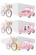車と自転車の事故のイラスト