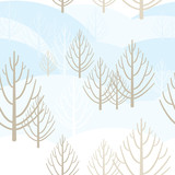 Vector seamless background with bright motifs spring forest