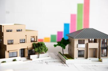 ミニチュアの二世帯住宅
