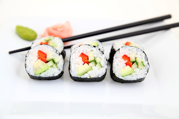 delicious Futomaki, Sushi - Japanese food