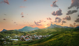 Fototapety view of the village of Koktebel