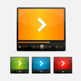Vector Video Player Skin colour set