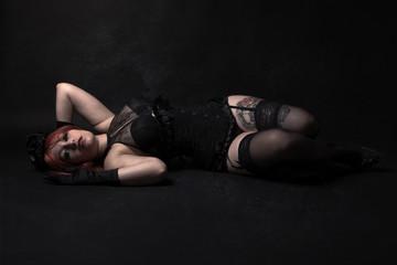 jeune femme gothique