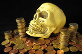 Death Money Concept Skull and Currency