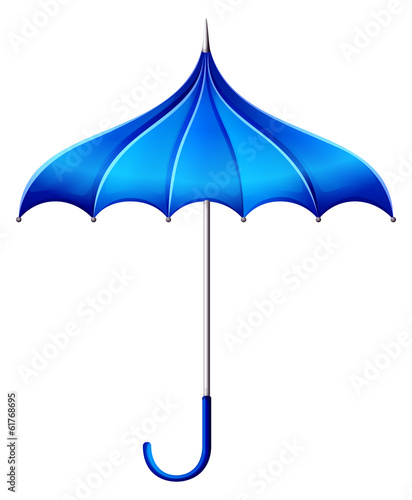 A blue umbrella