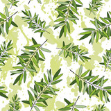 Rosemary seamless pattern
