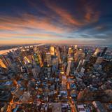 Fototapety New York City skyline at sunset