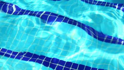 Background of blue water in swimming pool, HD 1080p, loop