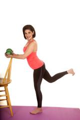 older woman fitness balls chair