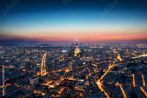 Paris Cityscape after sunset