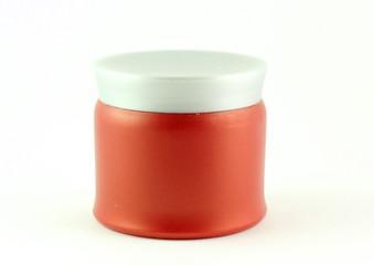 Barattolo di crema rosso