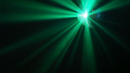 Rotating disco ball with multicolor blinking effect, loop-ready