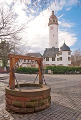 Marktplatz und Schloss in Frankfurt-Höchst